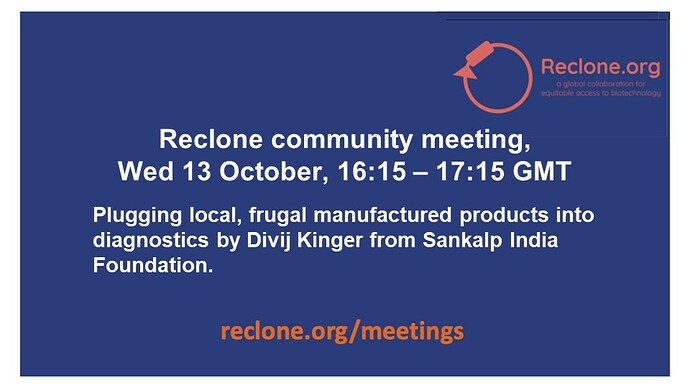 Meeting Flyer Reclone Community Meeting